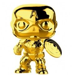Funko Pop Marvel Studios 10 Capitan America Gold Chrome