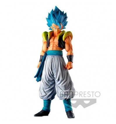 Figura Super Saiyan Blue Gogeta Super Master Stars Piece Dragon Ball Super 34cm