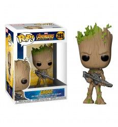 Funko Pop marvel avengers infinity war teen groot with gun